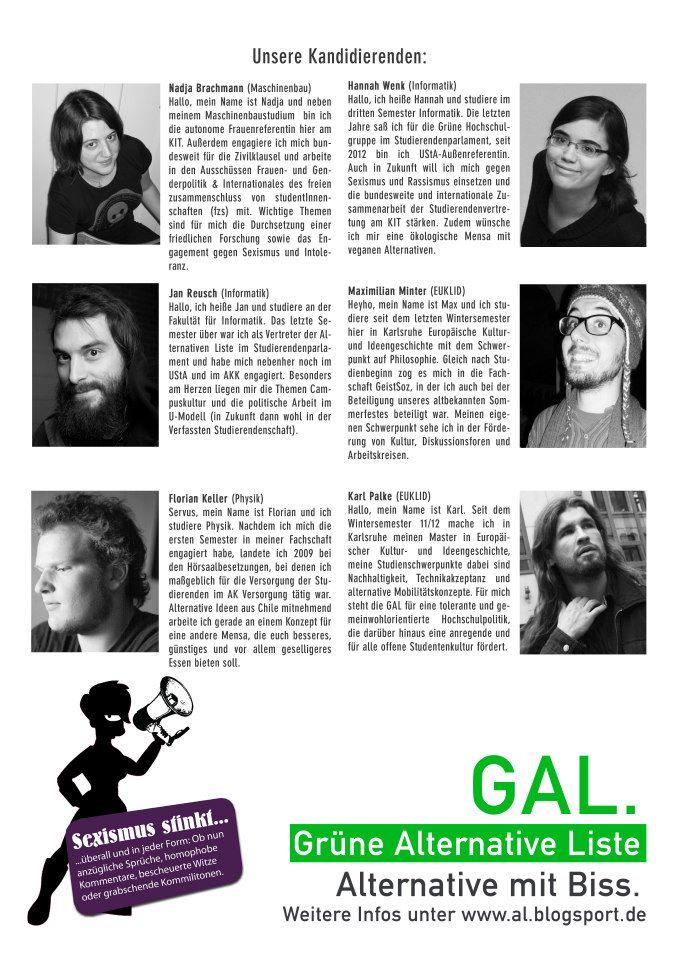 Kandidierende GAL 2013
